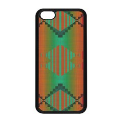 Striped Tribal Pattern Apple Iphone 5c Seamless Case (black)