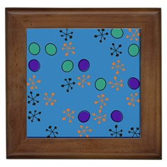 Circles And Snowflakes Framed Tile
