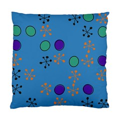 Circles And Snowflakes Standard Cushion Case (two Sides)