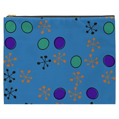 Circles And Snowflakes Cosmetic Bag (xxxl)