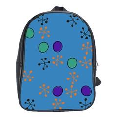 Circles And Snowflakes School Bag (xl)