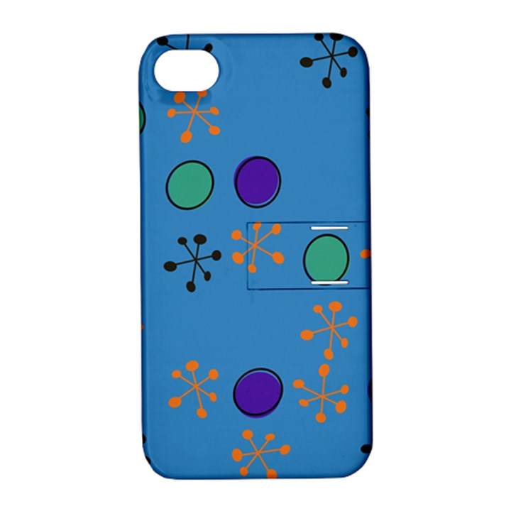 Circles and snowflakes Apple iPhone 4/4S Hardshell Case with Stand
