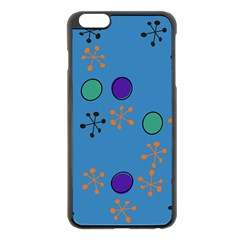 Circles And Snowflakes Apple Iphone 6 Plus Black Enamel Case