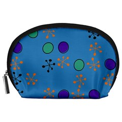 Circles And Snowflakes Accessory Pouch