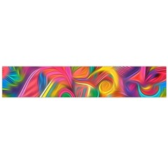 Colorful Floral Abstract Painting Flano Scarf (Large)