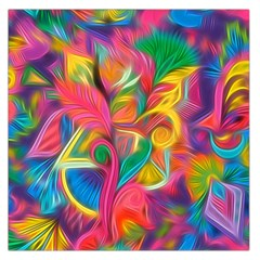Colorful Floral Abstract Painting Large Satin Scarf (Square)