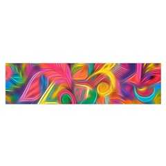 Colorful Floral Abstract Painting Satin Scarf (oblong)