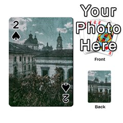 Colonial Architecture At Historic Center Of Bogota Colombia Playing Cards 54 Designs