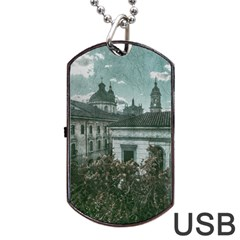 Colonial Architecture At Historic Center Of Bogota Colombia Dog Tag USB Flash (One Side)