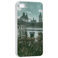 Colonial Architecture At Historic Center Of Bogota Colombia Apple Iphone 4/4s Seamless Case (white)