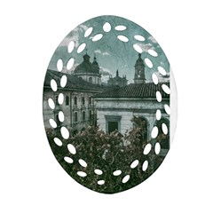 Colonial Architecture At Historic Center Of Bogota Colombia Oval Filigree Ornament (2 Side)