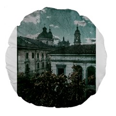 Colonial Architecture At Historic Center Of Bogota Colombia Large 18  Premium Round Cushions