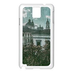 Colonial Architecture At Historic Center Of Bogota Colombia Samsung Galaxy Note 3 N9005 Case (white)