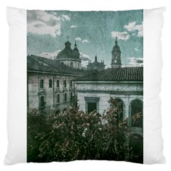 Colonial Architecture At Historic Center Of Bogota Colombia Large Flano Cushion Cases (One Side)