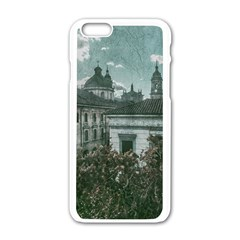 Colonial Architecture At Historic Center Of Bogota Colombia Apple iPhone 6 White Enamel Case