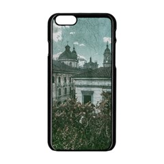 Colonial Architecture At Historic Center Of Bogota Colombia Apple Iphone 6 Black Enamel Case