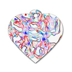 Soul Colour Light Dog Tag Heart (two Sides)