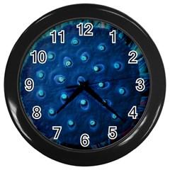 Blue Plant Wall Clocks (black)