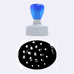 Blue Plant Rubber Oval Stamps
