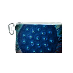Blue Plant Canvas Cosmetic Bag (S)