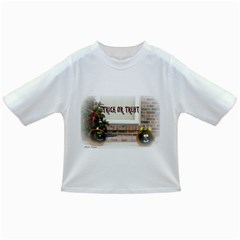 Black Ghoulish Pumpkins In White Matte Infant/Toddler T-Shirts