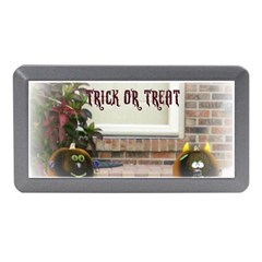 Black Ghoulish Pumpkins In White Matte Memory Card Reader (mini)