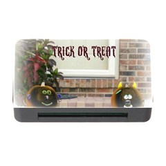 Black Ghoulish Pumpkins In White Matte Memory Card Reader with CF