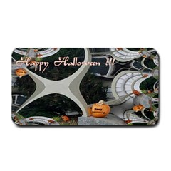 Creepy Pumpkin Fractal Medium Bar Mats