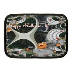 Creepy Pumpkin Fractal Netbook Case (medium)