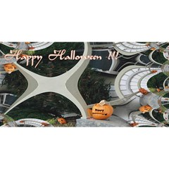 Creepy Pumpkin Fractal You Are Invited 3d Greeting Card (8x4)