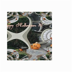 Creepy Pumpkin Fractal Small Garden Flag (Two Sides)