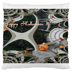 Creepy Pumpkin Fractal Large Cushion Cases (two Sides)