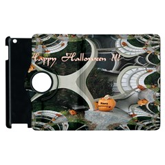 Creepy Pumpkin Fractal Apple Ipad 2 Flip 360 Case