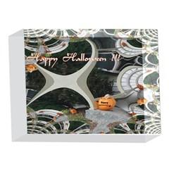 Creepy Pumpkin Fractal 5 x 7  Acrylic Photo Blocks