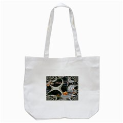 Creepy Pumpkin Fractal Tote Bag (white)