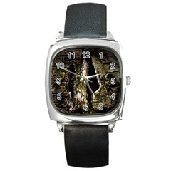 A Deeper Look Square Metal Watches