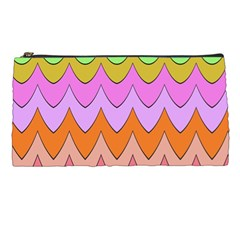 Pastel Waves Pattern Pencil Case