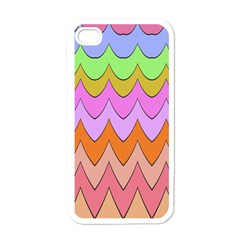 Pastel Waves Pattern Apple Iphone 4 Case (white)