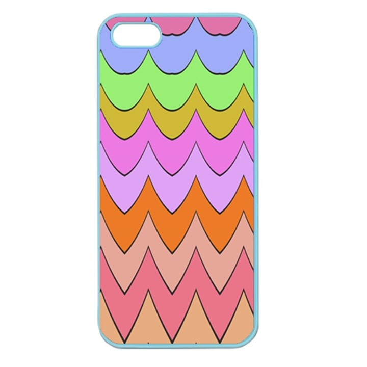 Pastel waves pattern Apple Seamless iPhone 5 Case (Color)