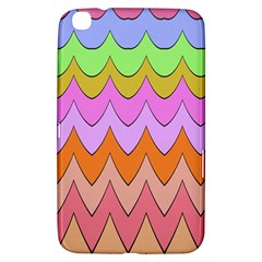 Pastel Waves Pattern Samsung Galaxy Tab 3 (8 ) T3100 Hardshell Case