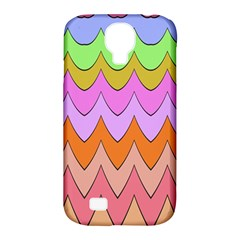 Pastel Waves Pattern Samsung Galaxy S4 Classic Hardshell Case (pc+silicone)