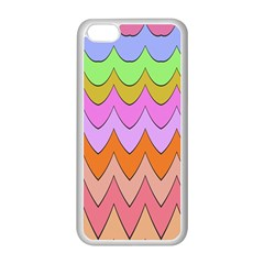 Pastel Waves Pattern Apple Iphone 5c Seamless Case (white)