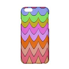 Pastel Waves Pattern Apple Iphone 6 Hardshell Case