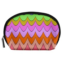 Pastel Waves Pattern Accessory Pouch