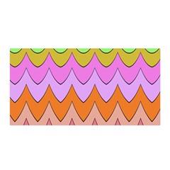 Pastel waves pattern Satin Wrap