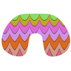 Pastel waves pattern Travel Neck Pillow