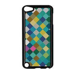 Rhombus Pattern In Retro Colors Apple Ipod Touch 5 Case (black)