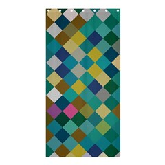 Rhombus Pattern In Retro Colors	shower Curtain 36  X 72