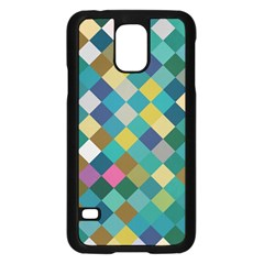 Rhombus pattern in retro colors	Samsung Galaxy S5 Case