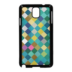 Rhombus Pattern In Retro Colors Samsung Galaxy Note 3 Neo Hardshell Case
